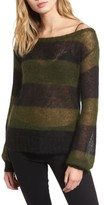 Pam & Gela Women's Sheer Stripe Sweater