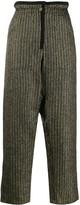 Saint Laurent striped paper bag trousers