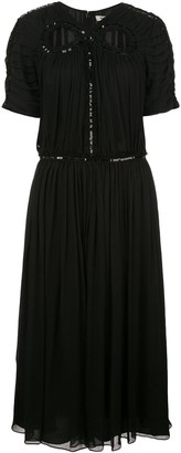 Jason Wu Gathered Flared Dress