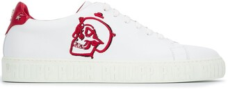 Philipp Plein Skull-Patch Low-Top Trainers
