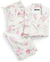 Ralph Lauren Petite Floral Sateen Pajama Set