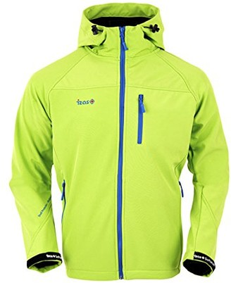 IZAS Men's Hooded Long Track Jacket Green X-Small