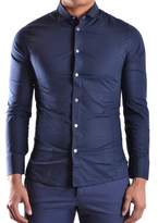 Dirk Bikkembergs Men's Blue Cotton Shirt.