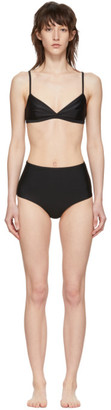 Matteau Black Tri Crop Top High Waist Bikini