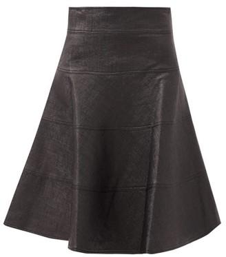 Duncan - Lady Godiva Panelled Coated-canvas Skirt - Black