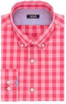 Izod Men's Slim Fit Buffalo Check Buttondown Collar Dress Shirt