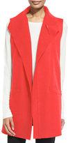 Eileen Fisher Boiled Wool Long Vest, Petite