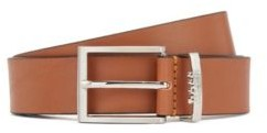 HUGO BOSS Italian-made belt in leather with logo keeper