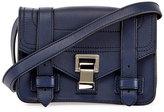 Proenza Schouler PS1 Mini Leather Crossbody Bag, Blue