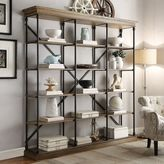 HomeVance Cresthill Wide Bookshelf