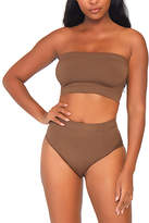 Leg Avenue Women's Bandeaus TAN - Tan Seamless High-Waist Briefs & Bandeau Top - Women
