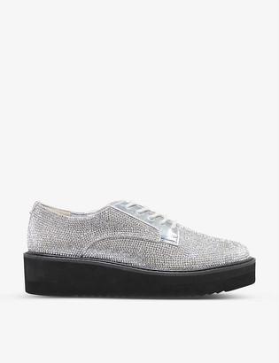 Dune Falon diamante-embellished flatform shoes