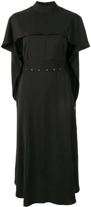 AKIRA NAKA belted cape dress
