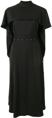 AKIRA NAKA Belted Cape Dress