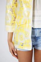 Topshop Flower Lace Plastic Mac
