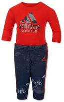 adidas Game Changer 2-Piece Bodyshirt and Jogger Pant Set in Red
