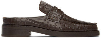 Martine Rose Brown Embossed Arches Loafers