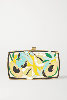 13BC Mother Gold-tone And Enamel Clutch - one size