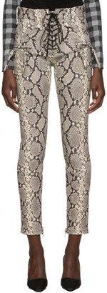 Unravel Grey Python Lace-Up Trousers