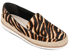 Kenneth Cole Women's Jaxx Zebra Print Espadrille Loafers