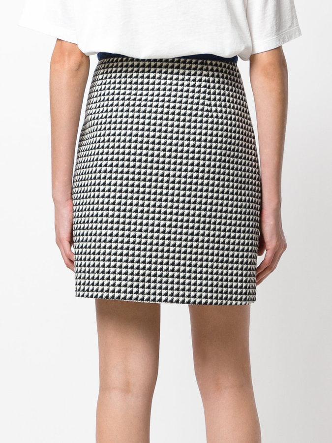 Gucci printed A-line skirt