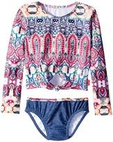 Seafolly Mermaidia Cropped Rashie Set Girl's Swimwear Sets