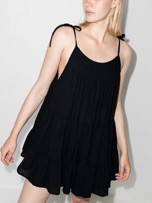 HONORINE Black Peri Tiered Mini Dress