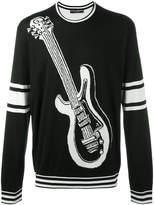 Dolce & Gabbana intarsia guitar knit jumper