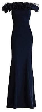Aidan Mattox Women's Off-The-Shoulder Ruffle Gown