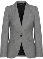 Alexander McQueen Wool-jacquard Blazer - Gray