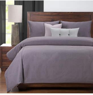 Everlast Revolution Plus Plum Stain Resistant 5 Piece Twin Luxury Duvet Set Bedding