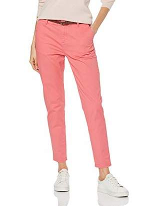 Scotch & Soda Maison Women's Regular Fit' Chino, Sold with A Belt Trouser, (Cadillac Pink 1200), W30/L30 (Size: 30/30)