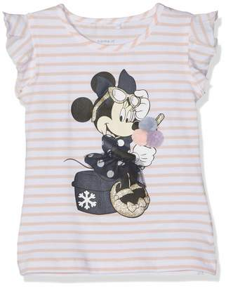 Name It Baby Girls' Nmfminnie Poppy Ss Top Wdi T-Shirt