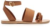 Ancient Greek Sandals Agni plaited-leather sandals