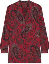 Etro Paisley-print Silk-crepe Shirt - Red