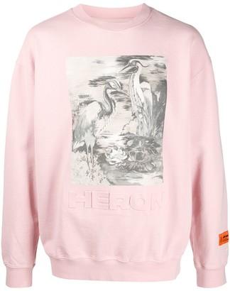 Heron Preston Herons Print Crew Neck Sweatshirt