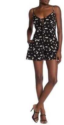 Dress Forum Floral Keyhole Sleeveless Romper