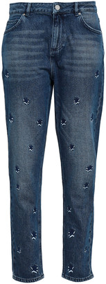 Zoe Karssen Embroidered High-risae Slim-leg Jeans