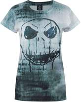 Disney Official Nightmare Before Christmas Jack Face Sublimation Women's T-Shirt (S)
