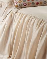 Pine Cone Hill King Savannah Tea Stain Skirted Coverlet