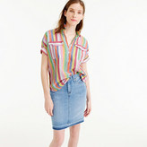 J.Crew Tall short-sleeve popover shirt in candy stripe