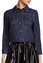 Marc Jacobs Customized Pin-Embellished Shrunken Denim Jacket
