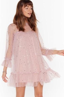 Nasty Gal Womens Star and Wide Mesh Mini Dress - Pink