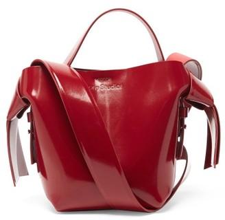 Acne Studios Musubi Micro Patent-leather Cross-body Bag - Burgundy