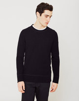Nudie Jeans Dag Recycled Wool Knit Jumper Black