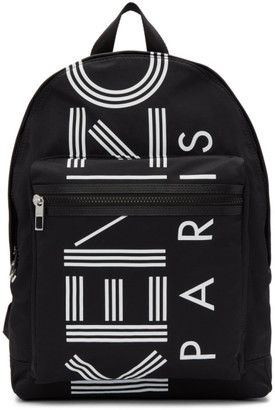 Kenzo Black Large Logo Backpack