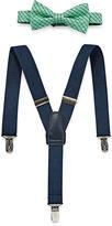 WEMBLEY Wembley Grid Bow Tie and Suspender Set - Boys