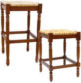 Carolina Chair & Table Company Antique Hawthorne Stool in Walnut