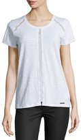 MICHAEL Michael Kors Eyelet-Panel Top, White