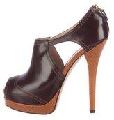 Fendi Leather Platform Booties